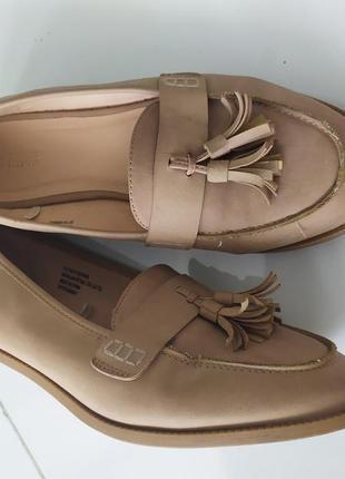 Лоферы туфли с кисточками с кистями на широкую ножку wide fit