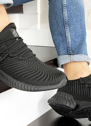 Летние мужские кроссовки adidas alphabounce instinct стрейч сетка текстиль1 фото