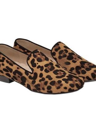 Леопардовые лоферы, туфли, мокасины