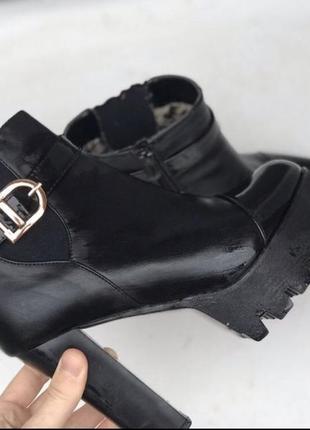 Сапоги в стиле dior, сапожки размер 38, сапоги весна/осень, сапоги на каблуке