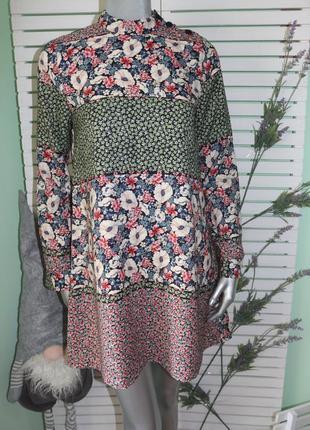 Платье в цветы zara