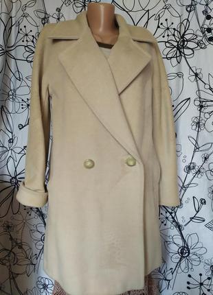 Итальянское пальто,бренд, оригинал,двубортное,90%шерсть,10%кашемир