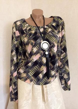 Эффектная,легкая ,блуза, кофточка,принт, вискоза,люкс бренд оригинал.