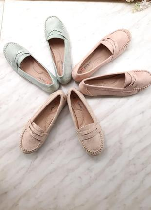 Лоферы беж,  пудра,  мята балетки