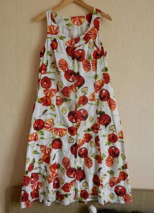 """Чудесное натуральное """"фруктовое"""" платье"""