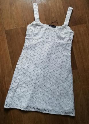 Zara батистовое платье, прошва, сарафан, сукня, плаття