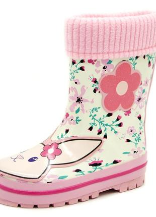 Резиновые сапоги для девочек розовый размеры: 24,25,26,27,28,29