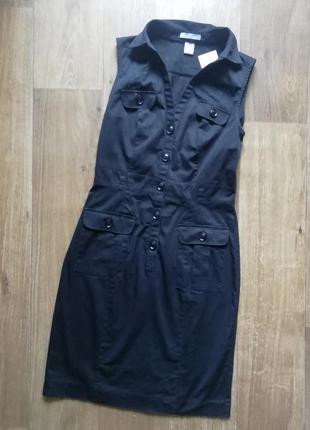 Стильный котоновый сарафан, плаття, платье - рубашка, сукня, платье