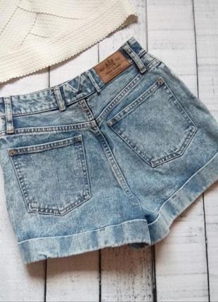 Плотные джинсовые шорты river island  высокая посадка