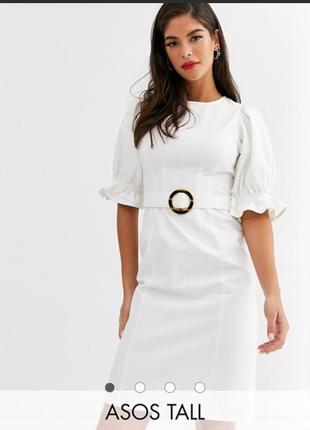 Джинсовое платье белое