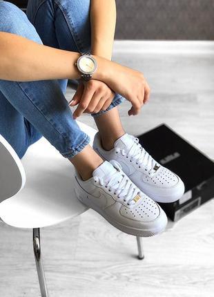 Nike air force 1 classic white ♦ женские кроссовки ♦ весна лето осень
