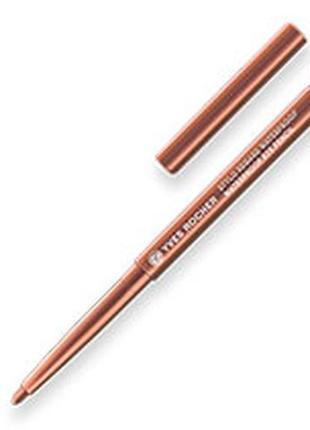 Водостійкий олівець для контуру очей мідний yves rocher