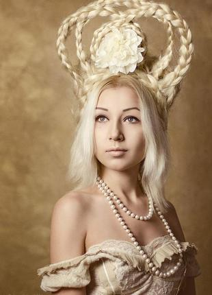 Викторианский парик блонд