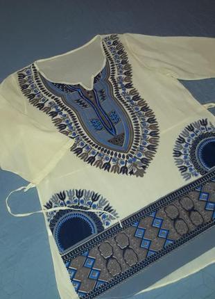 Удлиненная натуральная блузка/блуза/блузон/италия