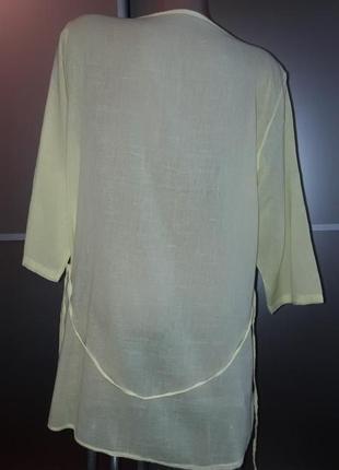 Удлиненная натуральная блузка/блуза/блузон/италия3 фото