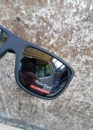 Polar  качественные антибликовые поляризационные мужские очки прорезиненная оправа