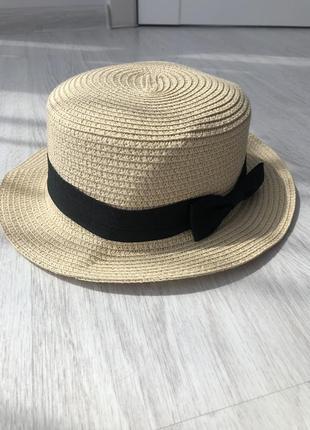 Шляпа канотье плетенка
