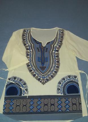 Удлиненная натуральная блузка/блуза/блузон/италия7 фото