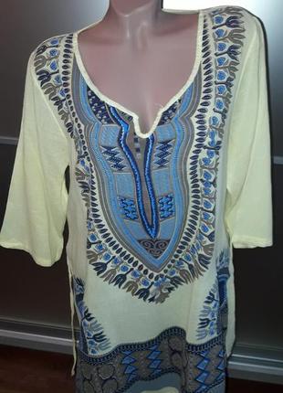 Удлиненная натуральная блузка/блуза/блузон/италия10 фото