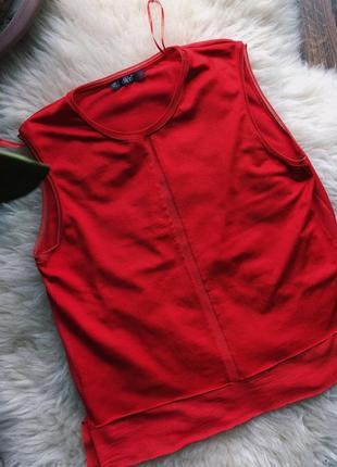Красная блузка dilvin с открытыми плечами