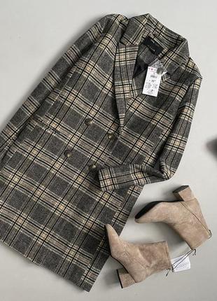 Новое трендовое пальто в клетку sinsay