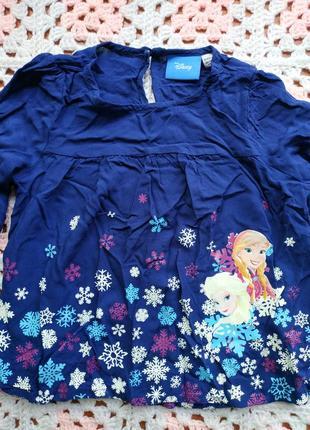 Летняя лёгкая вискозная блузка на девочку 3-4 года disney