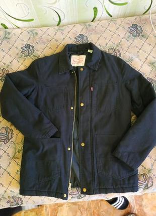 Куртка утепленная шерпа levis джинсовка