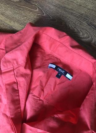 Эффектная коралловая блузка рубаха рубашка с баской,9 фото
