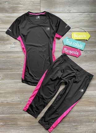 Костюм спортивный комплект футболка капри karrimor run m-l