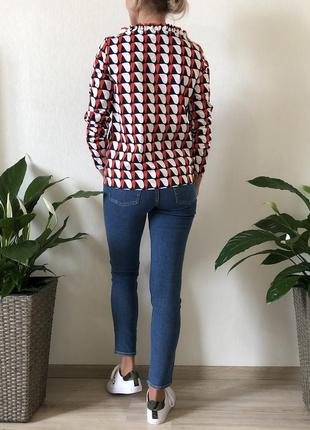 Хлопковая цветная блузка massimo dutti, cos, zara, размер 322 фото
