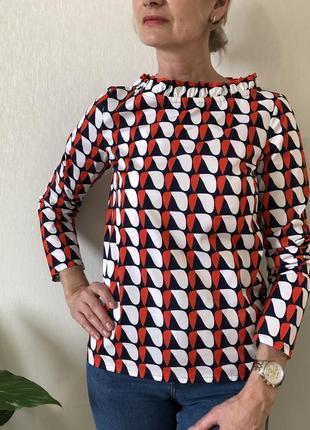 Хлопковая цветная блузка massimo dutti, cos, zara, размер 323 фото