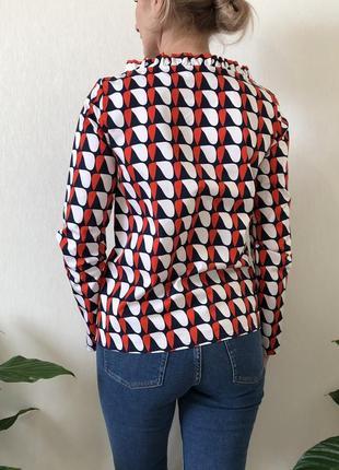 Хлопковая цветная блузка massimo dutti, cos, zara, размер 324 фото