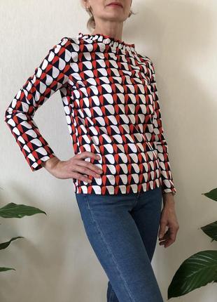 Хлопковая цветная блузка massimo dutti, cos, zara, размер 325 фото