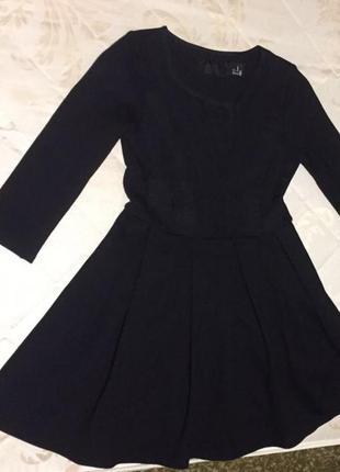 Секси чёрное короткое платье