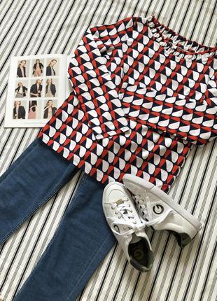 Хлопковая цветная блузка massimo dutti, cos, zara, размер 326 фото