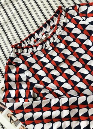 Хлопковая цветная блузка massimo dutti, cos, zara, размер 327 фото
