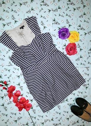 🌿1+1=3 праздничное короткое платье - футляр в полоску warehouse, размер 46 - 48