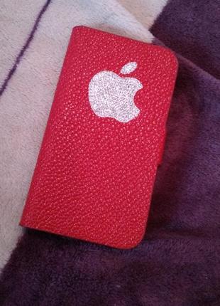 Красивый чехол книжка на айфон 4/4s/стильный яркий  чехол для iphone 4/4s