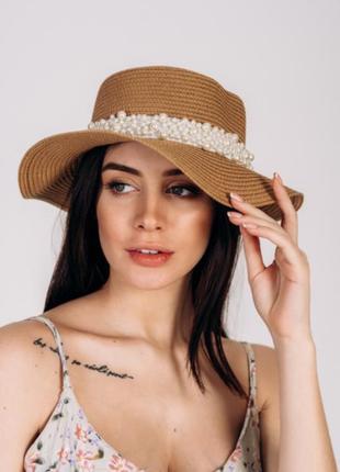 Шляпа канотье женская