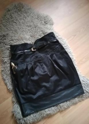 Эффектная юбка с поясом корсетом