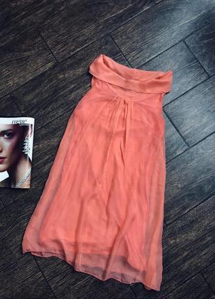Очень красивое легкое летнее шелковое итальянское платье