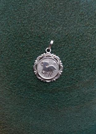 Кулон подвес знак зодиака козерог серебро 925