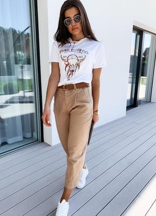 Стильные свободные летние брюки штаны