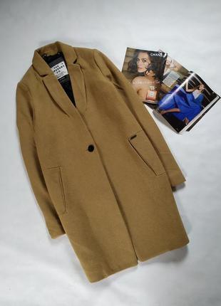 72% шерсть ! шикарное трендовое шерстяное пальто !