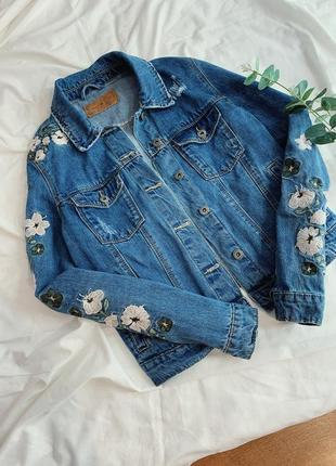 Джинсовый пиджак amisu