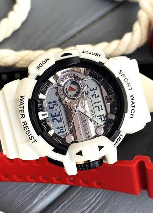 Часы sanda 599 white-silver