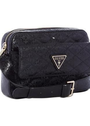 Guess astrid zip crossbody сумка гесс оригинал черная новая коллекция кроссбоди