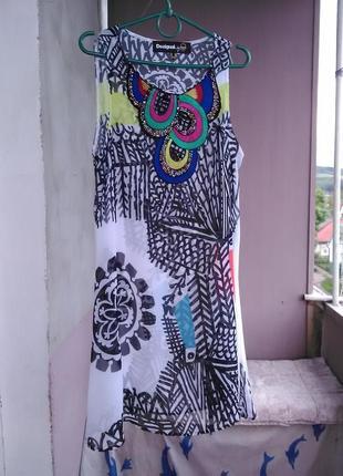 Яркая пляжная туника-платье desigual