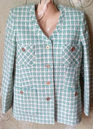 Elegance paris стильный пиджак шерсть с карманами,рр.м-л.