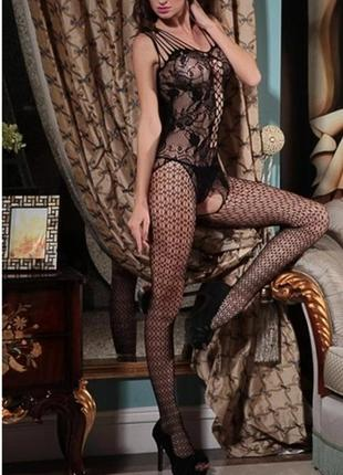 Эротический сексуальный комбинезон боди сетка бодистокинг арт. 516
